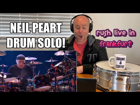 NEIL PEART DRUM SOLO - RUSH LIVE IN FRANKFURT | DRUM TEACHER REACTION (2020)