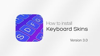 Video instruction about setting up Keyboard Skins Version 3.0 on iPhone, iPad and iPod.