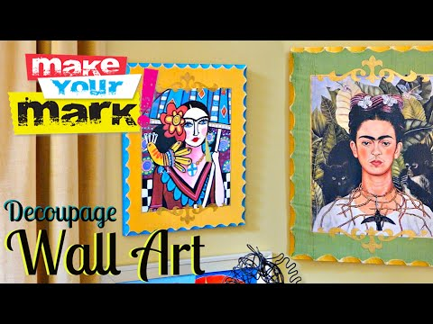 Decoupage Wall Art