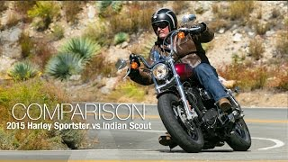 6. 2015 Harley Sportster vs. Indian Scout Part 2 - MotoUSA