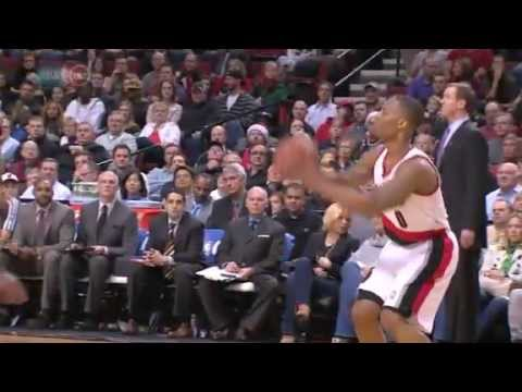 Damian Lillard's wonderful stepback on Patty Mills