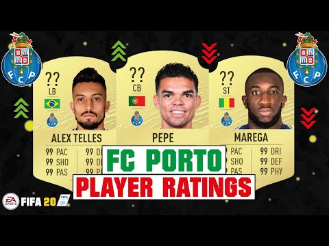 FIFA 20 | FC PORTO PLAYER RATINGS 😳🔥| FT. PEPE, ALEX TELLES, BRAHIMI... Etc