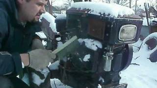 Заводим мотоблок зимой