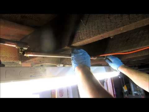 fix a leaking 1/2 copper water pipe in basement
