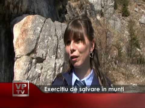 Exerciţiu de salvare în munţi