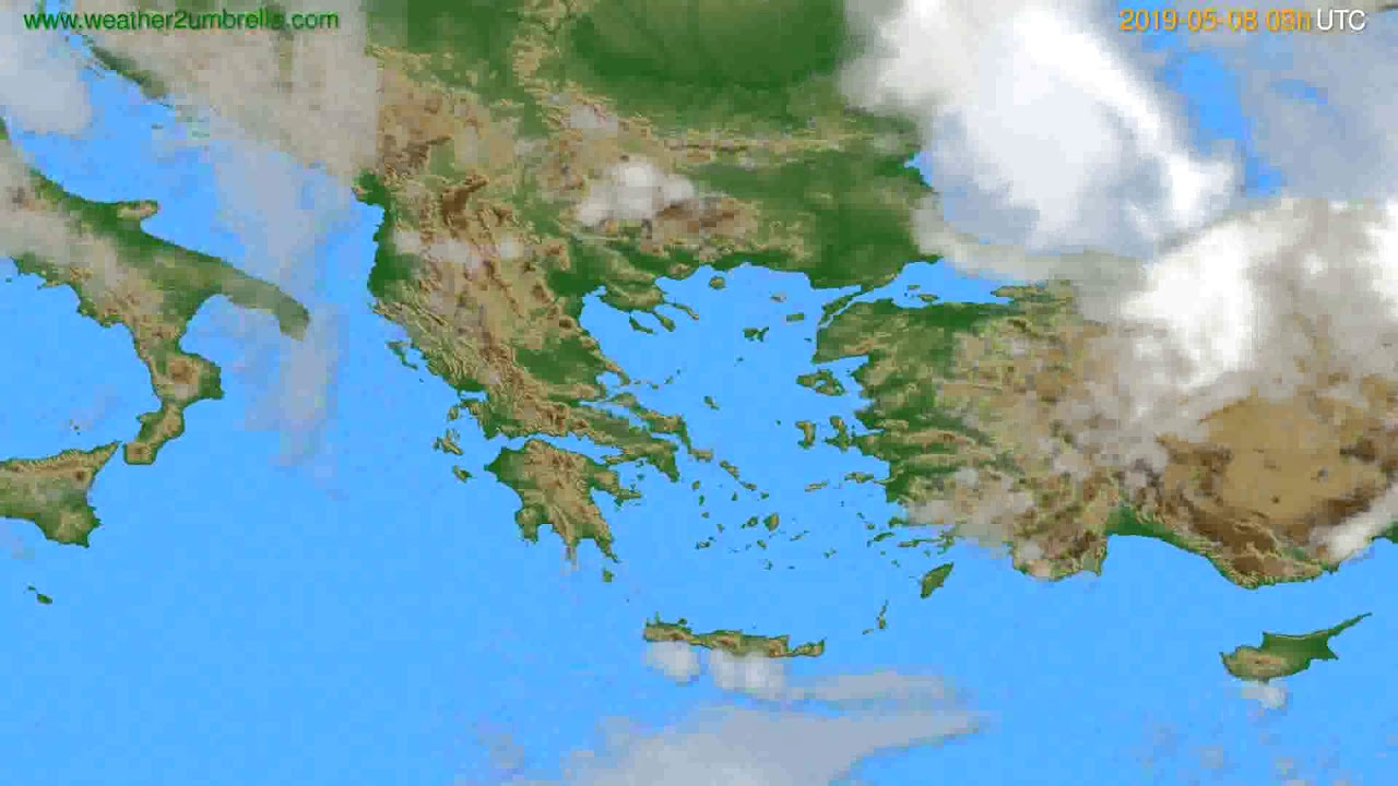 Cloud forecast Greece // modelrun: 12h UTC 2019-05-06