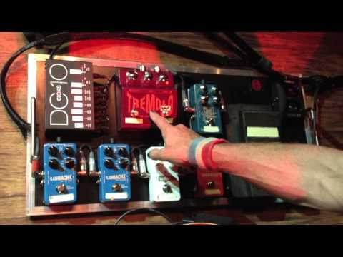 Ryan Roxie walks through his guitar rig. Ryan is using Gibson guitars, Marshall amps, TC electronic effects, Cioks power supply, Line 6 wireless, Jim Dunlop effects, Morley effects and pedal boards made by Sound Of Silence.