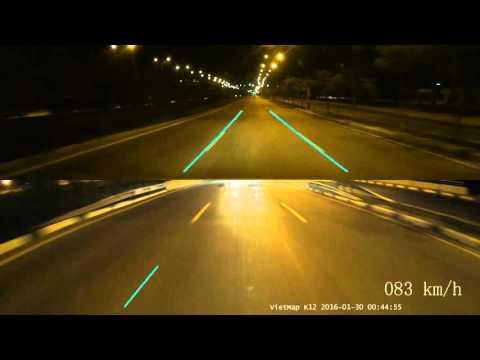 Camera hành trình 2 kênh VietMap K12 ghi hình ban đêm