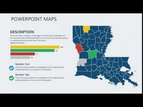 PowerPoint maps of Louisiana with Counties