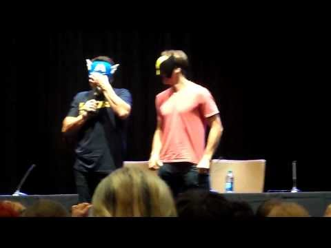 John Barrowman brings husband Scott Gill up on stage during his panel: Dragon*Con 2013.