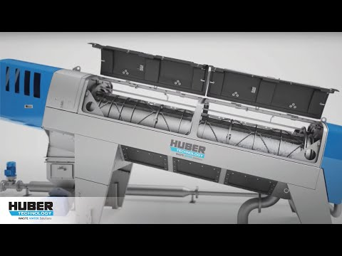 Animation: HUBER Sludge Dewatering