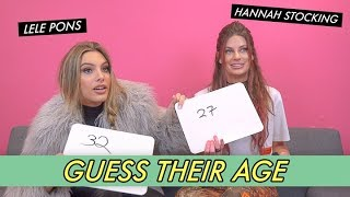 Lele Pons vs. Hannah Stocking - Guess Their Age