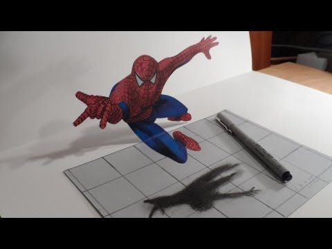 3d Staircase Drawing Drawing a 3d Spiderman