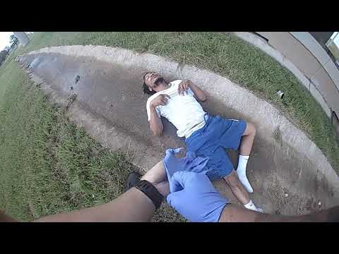 Tulsa police release video of man falling from IDL bridge during pursuit