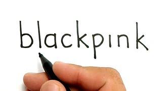 WOW, cara menggambar kata BLACKPINK jadi wajah personel BLACKPINK