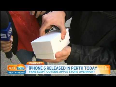 Noob laat nieuwe Iphone 6 vallen