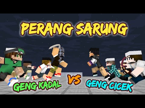 Download Video PERANG SARUNG !!! - Sketsa Minecraft Animation w/ Anited, Muthia Savira | Spesial Ramadhan