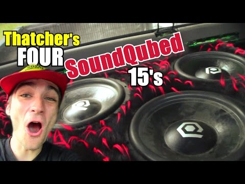 Ear RINGING Bass Setup w/ 4 15″ SoundQubed HDS300 Subs Ported on 3,500 Watts & Two LOUD Demo Songs