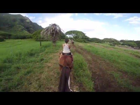 Kualoa Ranch-Oahu-Hawaii-Horseback riding-Go Pro