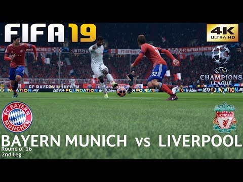 FIFA 19 (PC) Bayern Munich Vs Liverpool | UEFA CHAMPIONS LEAGUE ROUND OF 16 | 13/3/2019 | 4K 60FPS