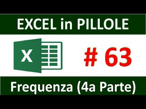 , title : 'EP63 La funzione FREQUANZA di excel  4a parte Come contare volori unici che siano testi e numeri'