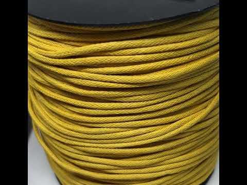 Cordão Encerado Amarelo Ouro Kit 500M