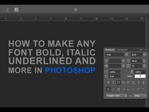 Make Any Font Bold, Italic, and Underlined in Photoshop (HD)