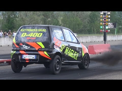 300HP Fiat Seicento 1.3 Multijet Vs Fiat Punto! - Turbo Diesel Smoking On The Dragstrip!
