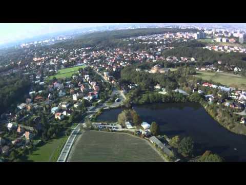 Pohled z letadélka - Kunratice - Šeberák