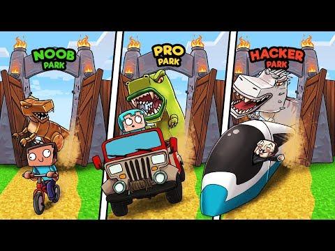 Minecraft - JURASSIC PARK! (NOOB vs PRO vs HACKER)