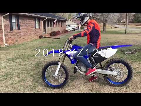 First ride on his 2018 Yamaha YZ 125
