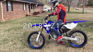 4. First ride on his 2018 Yamaha YZ 125