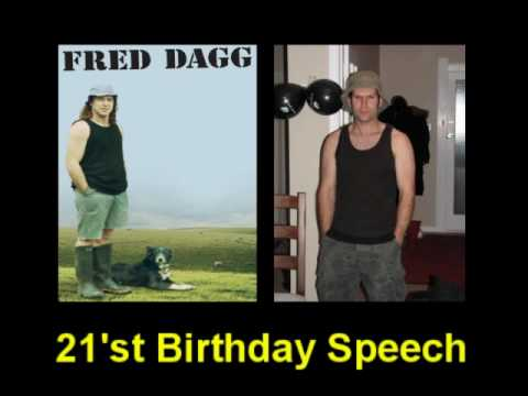 Fred Dagg 12 - 21st Birthday Speech (Audio)