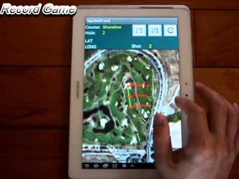 Video of Golf Scorecard & GPS Caddy