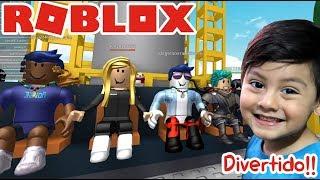 Natural Disaster Survival en Roblox | En el Parque de Diversiones | Juegos para niños Roblox