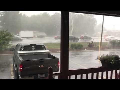 Hurricane Florence starts hitting Indian Trail, NC