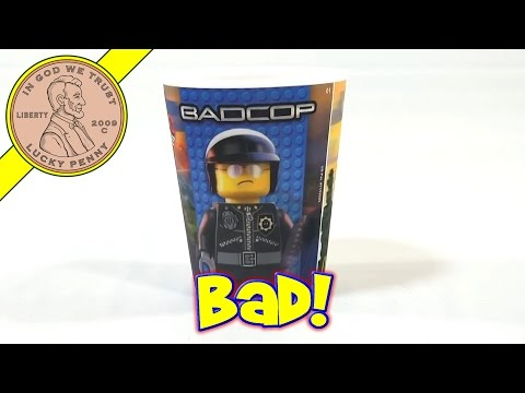 The Lego Movie 3D Action Cups #5 Good Cop Bad Cop #6 Metal Beard – 2014 McDonald's Happy Meal Toys