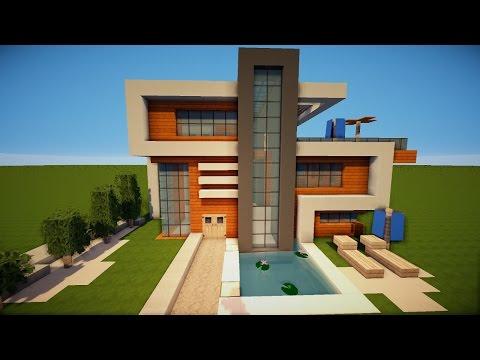 Minecraft Tutorial Wie Baue Ich Ein Schönes Haus Teil Rohbau - Minecraft haus bauen grob