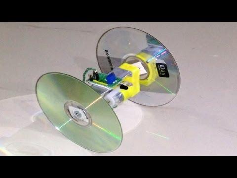 How to make a Robot Toy using proximity sensor and old CD  - DIY Robot