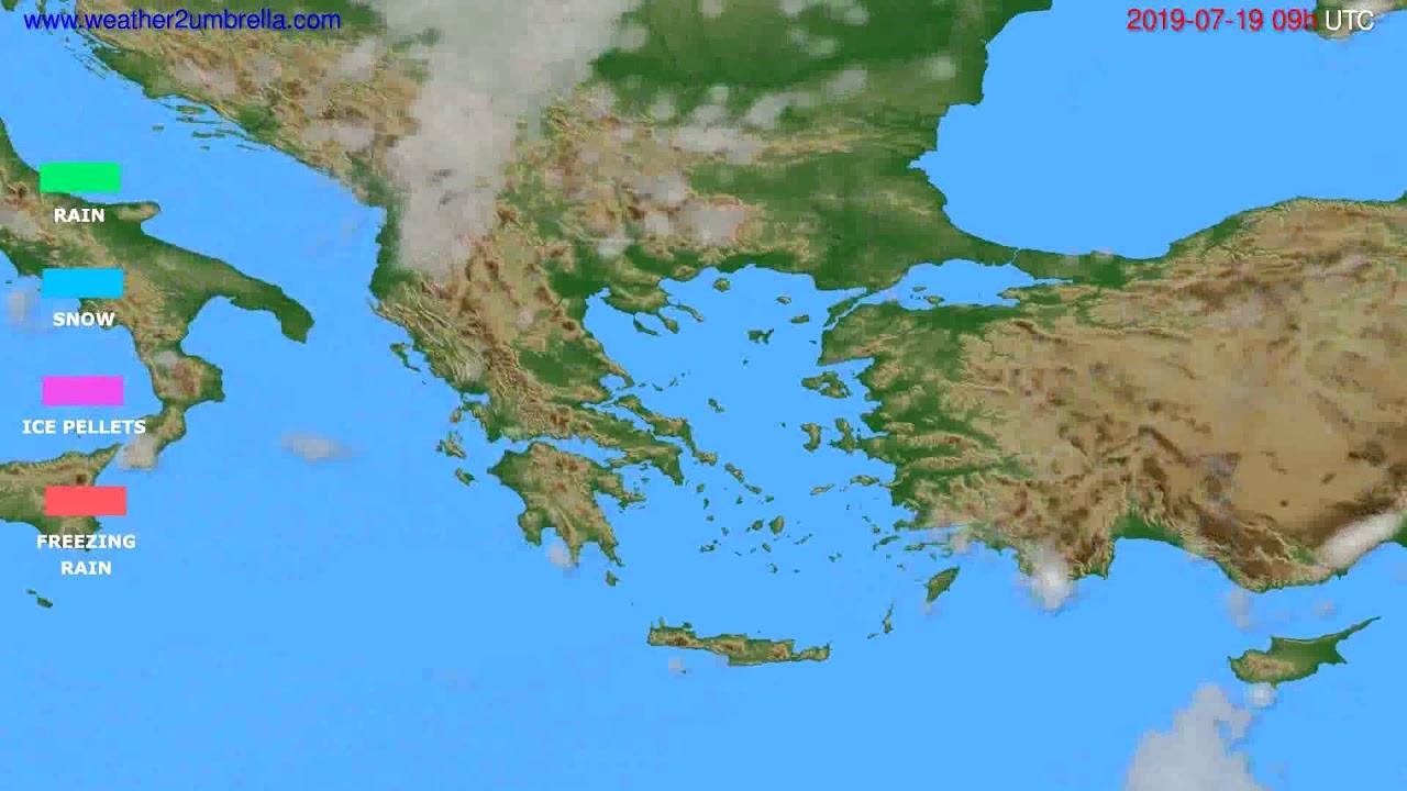 Precipitation forecast Greece // modelrun: 00h UTC 2019-07-17