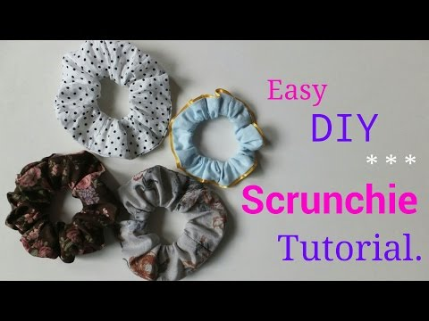 **DIY** Easy way to make Hair Scrunchie.♪*