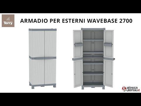 Armadio per Esterni Terry Wave Base 2700