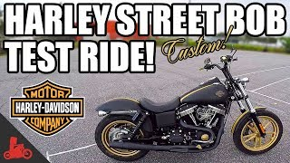 3. Harley-Davidson Street Bob Test Ride (Custom!)