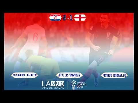 [RELATO EMOCIONANTE] Mundial de Rusia 2018   Croacia 2-1 Inglaterra   Relatos Alejandro Calumite
