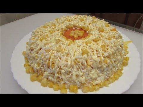 Салат с курицей и кукурузой - DomaVideo.Ru