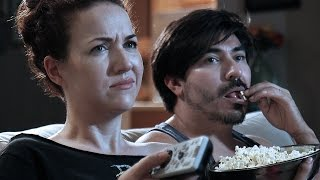 Weird Things Couples Do On Movie Night - YouTube