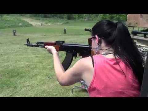 Shooting A Full Auto Polytech AK-47
