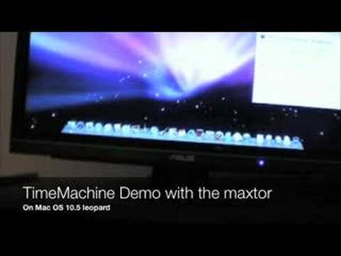 Maxtor onetouch III on time Machine