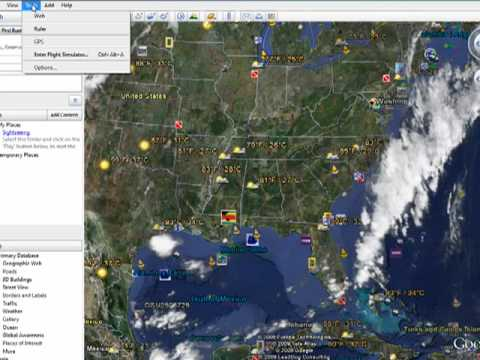 how to sync gps with google earth