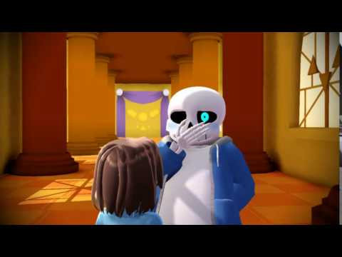 【MMD】Undertale SansxFrisk  ~ Kiss on the first date ~